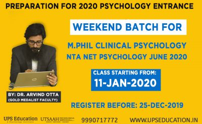 M.Phil Clinical Psychology and NTA NET Psychology