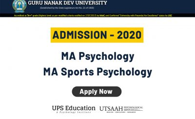 Guru Nanak Dev MA Psychology Admission 2020