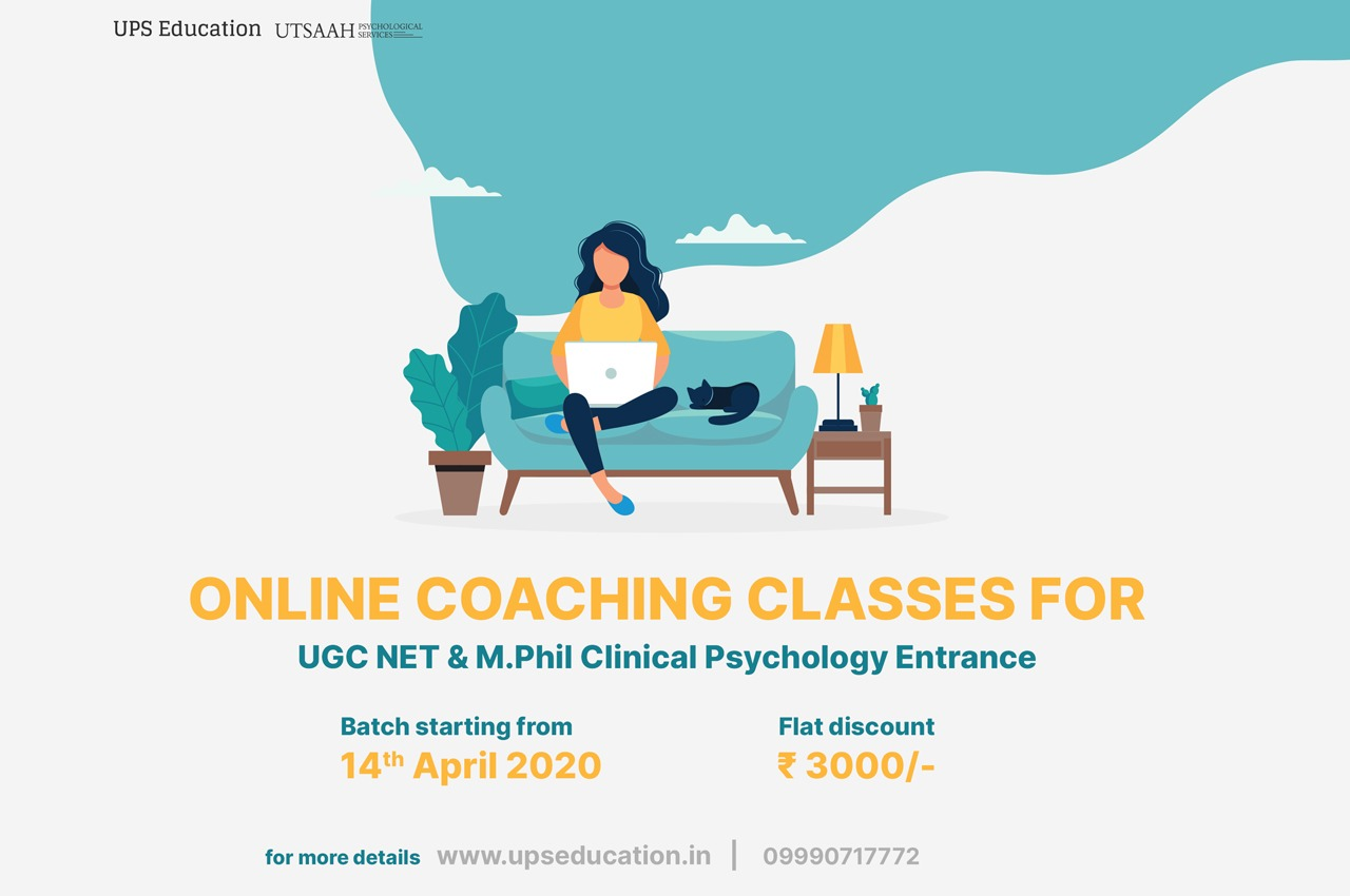 Online Coaching for UGC NET Psychology and online coaching for mphil clinical psychology entrance