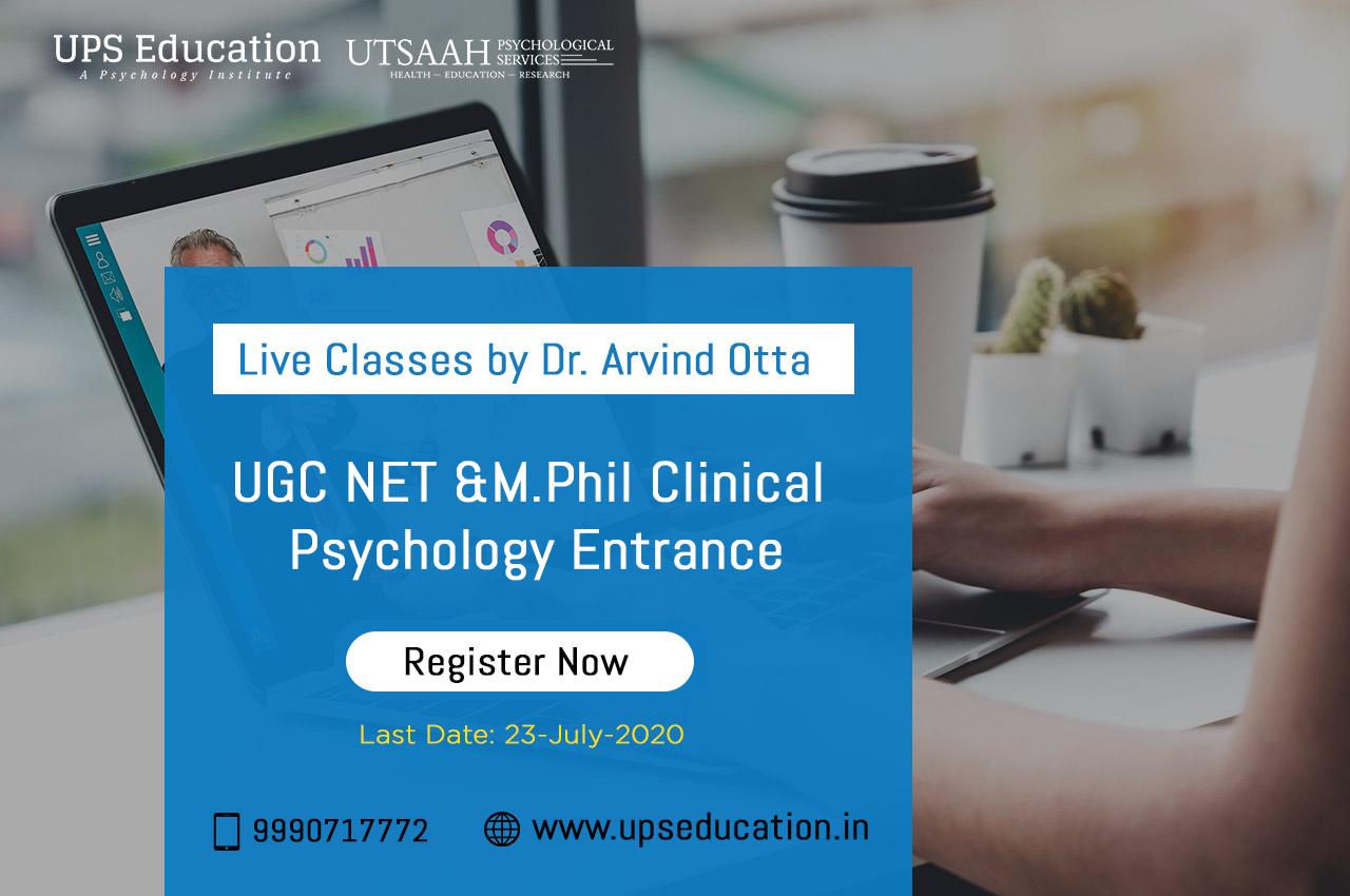 Live Classes by Dr. Arvind Otta for Psychology Entrance Preparation