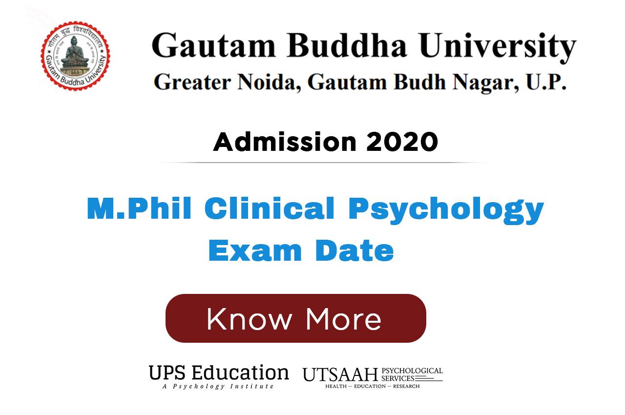 GBU M.Phil Clinical Psychology Entrance Exam date 2020