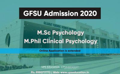 GFSU M.Sc/M.Phil Clinical Psychology Entrance 2020
