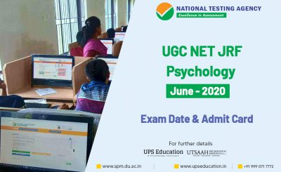 UGC NET JRF Psychology June 2020 Exam Date