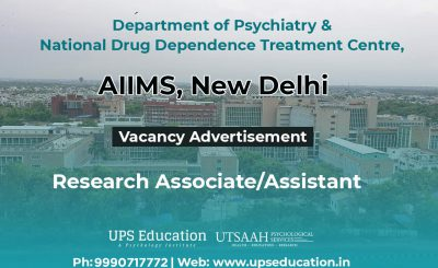 AIIMS Research Associate/Assistant Vacancy for Psychology Students