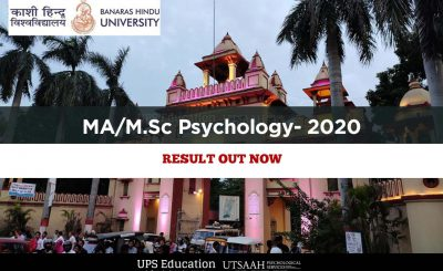 BHU MA/M.Sc Psychology Entrance Result 2020