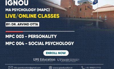 IGNOU MA Psychology Live Classes