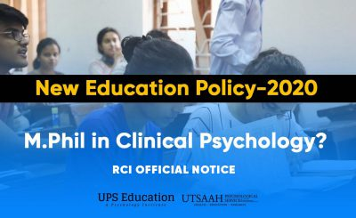 RCI view on Discontinuation M.Phil Clinical Psychology Course after New Education Policy 2020