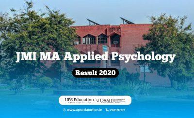 JMI MA Applied Psychology Result 2020 – Check Now