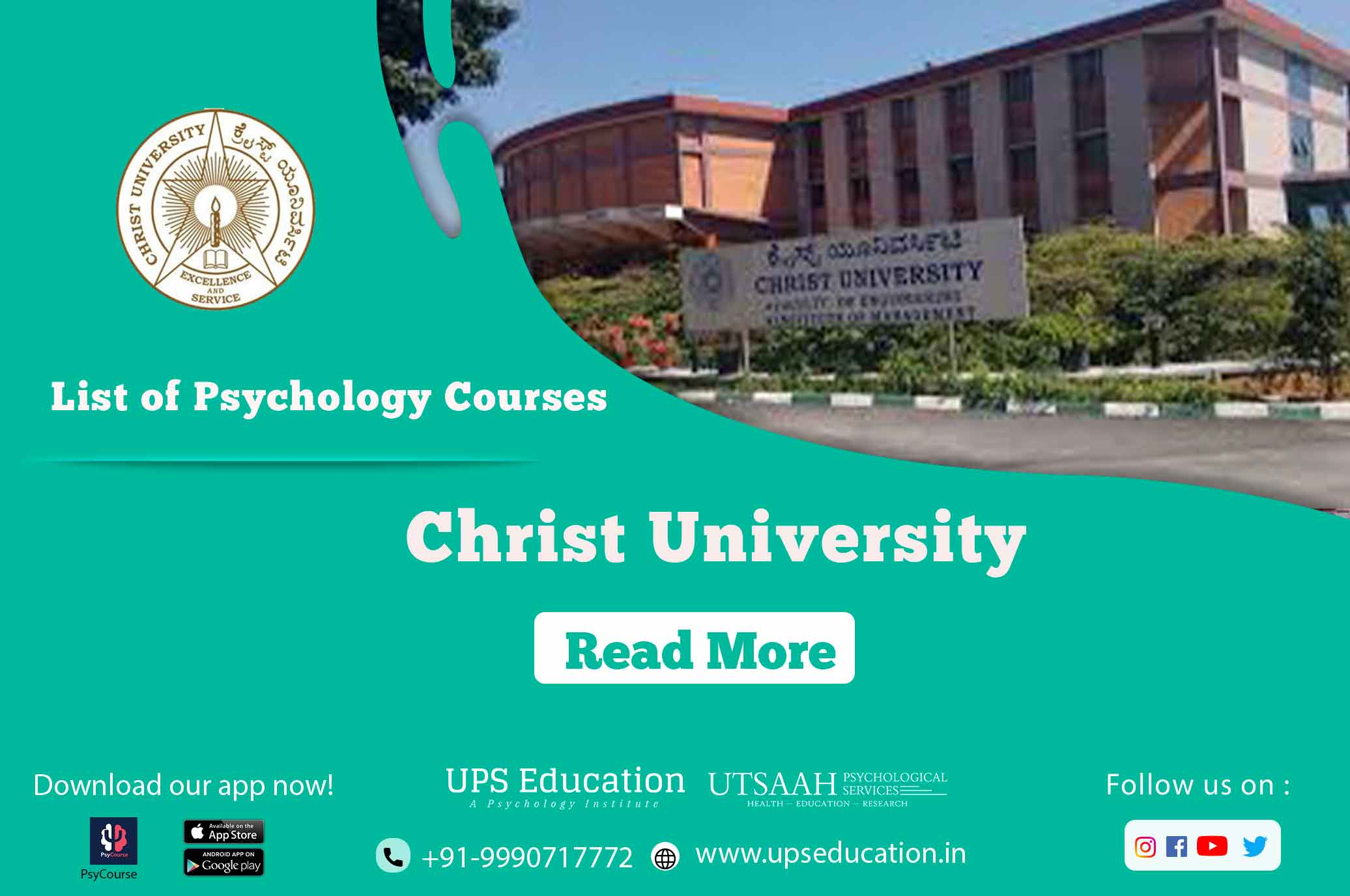 Christ university list of psychology courses